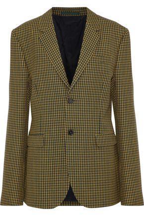 Marni Woman Checked Wool-Tweed Blazer Marigold