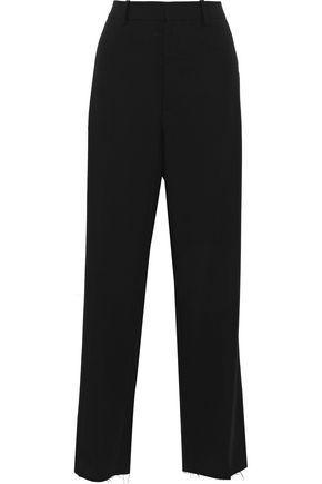 Marni Woman Wool-Twill Straight-Leg Pants Black