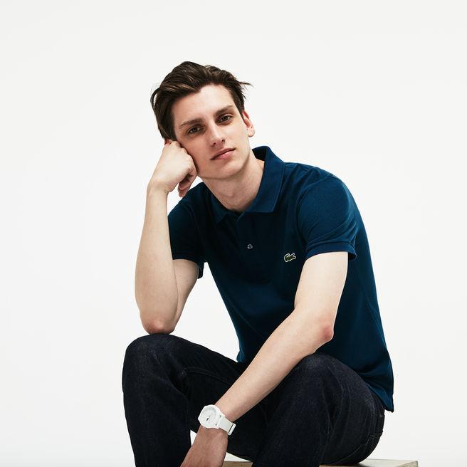 84240ef7d1 Men's Petit Piqué Slim Fit Polo Shirt in Blue