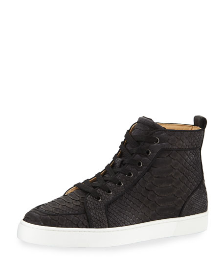 official photos a2bb4 ceef8 Men's Rantus Python High-Top Sneakers in Black