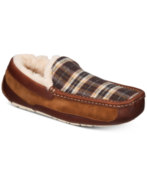 c27d3124bea Men's Ascot Plaid Holiday Slippers Men's Shoes in Chestnut