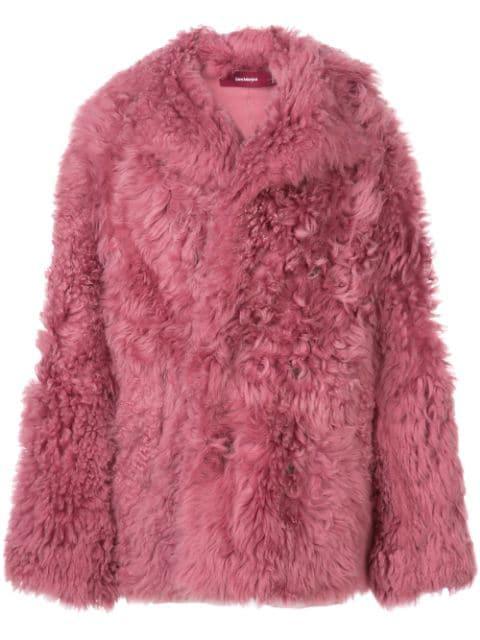 Sies Marjan Kurzer Shearling-Mantel - Rosa In Pink