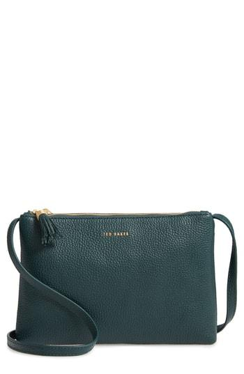1afc0fddd Ted Baker Maceyy Double Zip Leather Crossbody Bag - Black | ModeSens