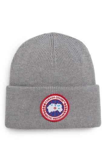 c4fc674b53e Canada Goose Arctic Disc Merino Wool Toque Hat In Heather Grey ...