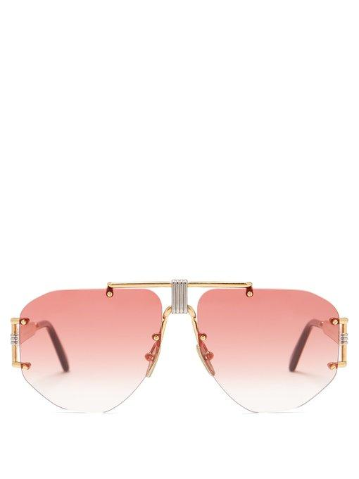 9471285862c2 Celine Fragola Aviator Gold-Tone Metal Sunglasses In Pink
