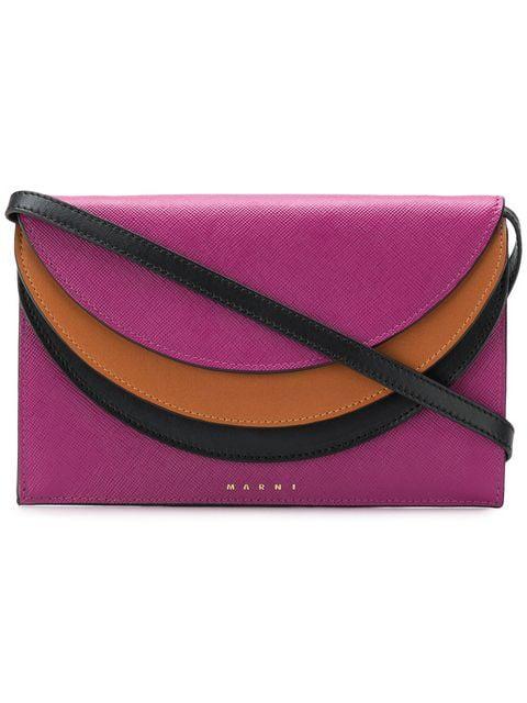 Marni Foldover Crossbody Bag - Pink