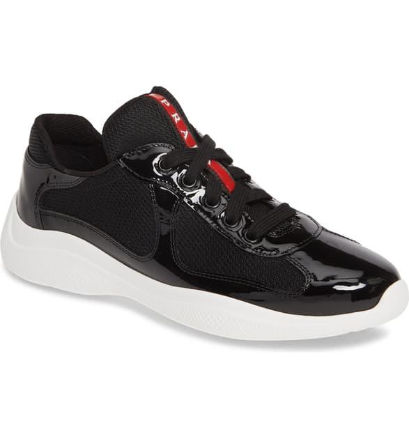 Prada America's Cup Sneakers In Black