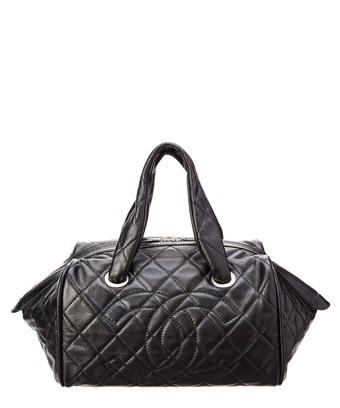 6a2cc6787c97ff Chanel Black Quilted Caviar Leather Small Boston Bag In Nocolor ...