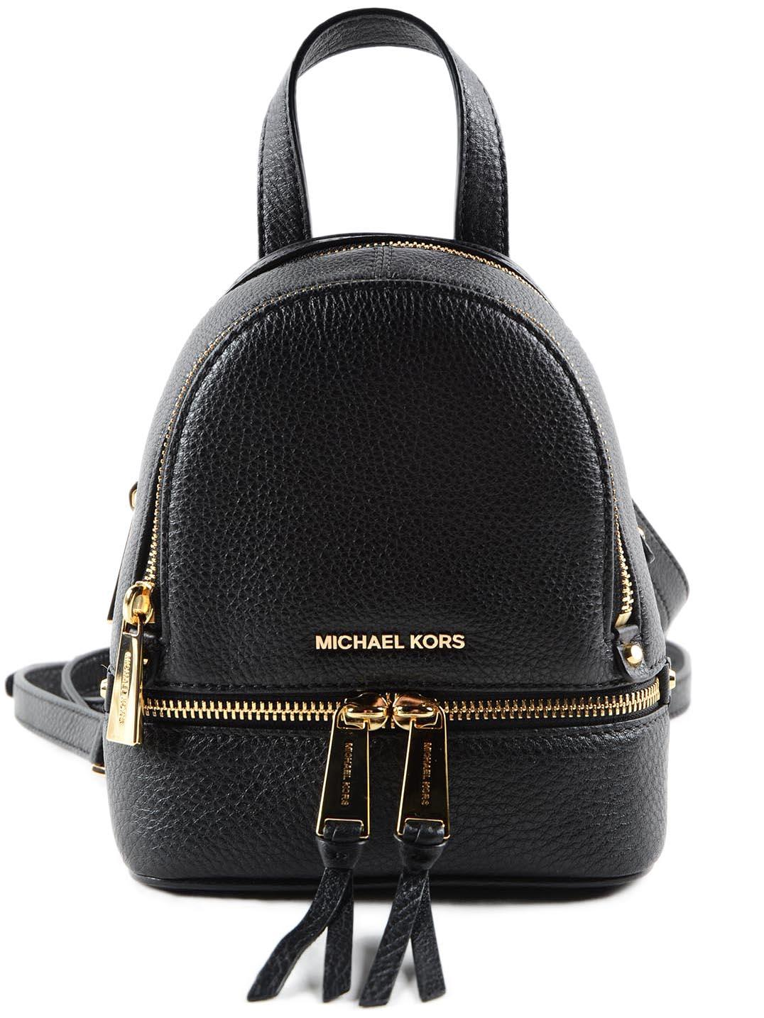 1e7eb4387450 Michael Kors Mini Rhea Backpack In Black | ModeSens