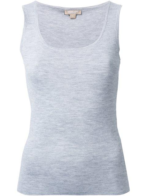 Michael Kors Collection Scoop Neck Tank Top - Grey