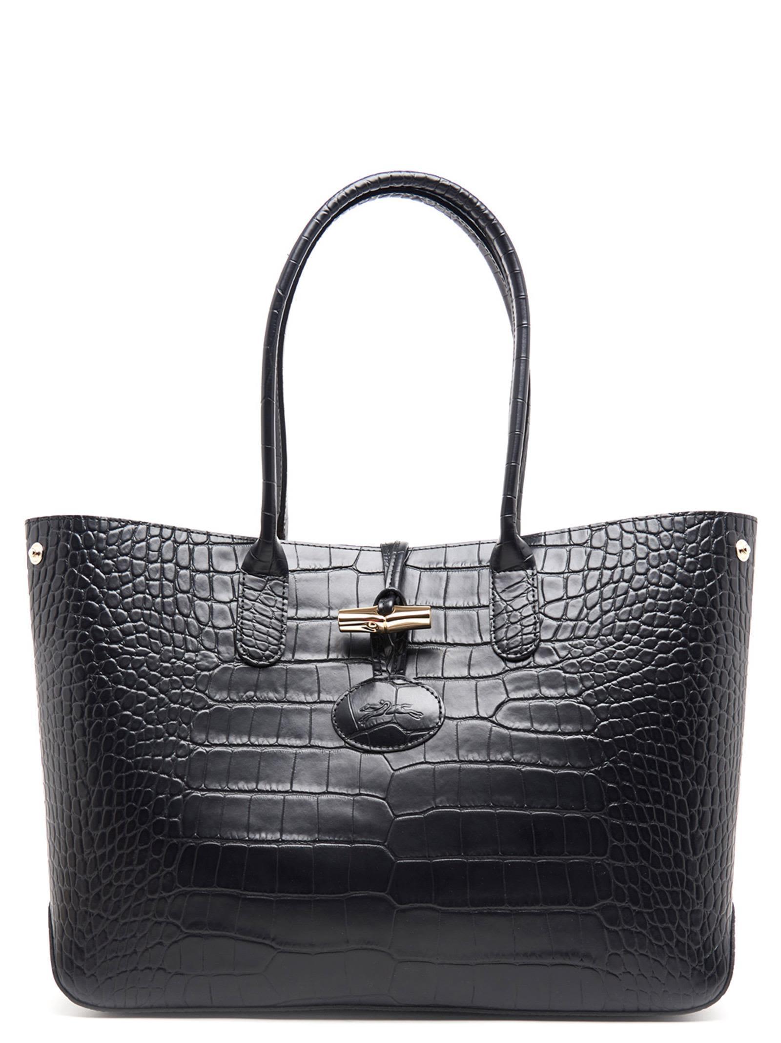 Longchamp 'roseau ' Bag In Black