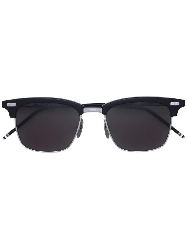 Thom Browne Black Square Frame Sunglasses