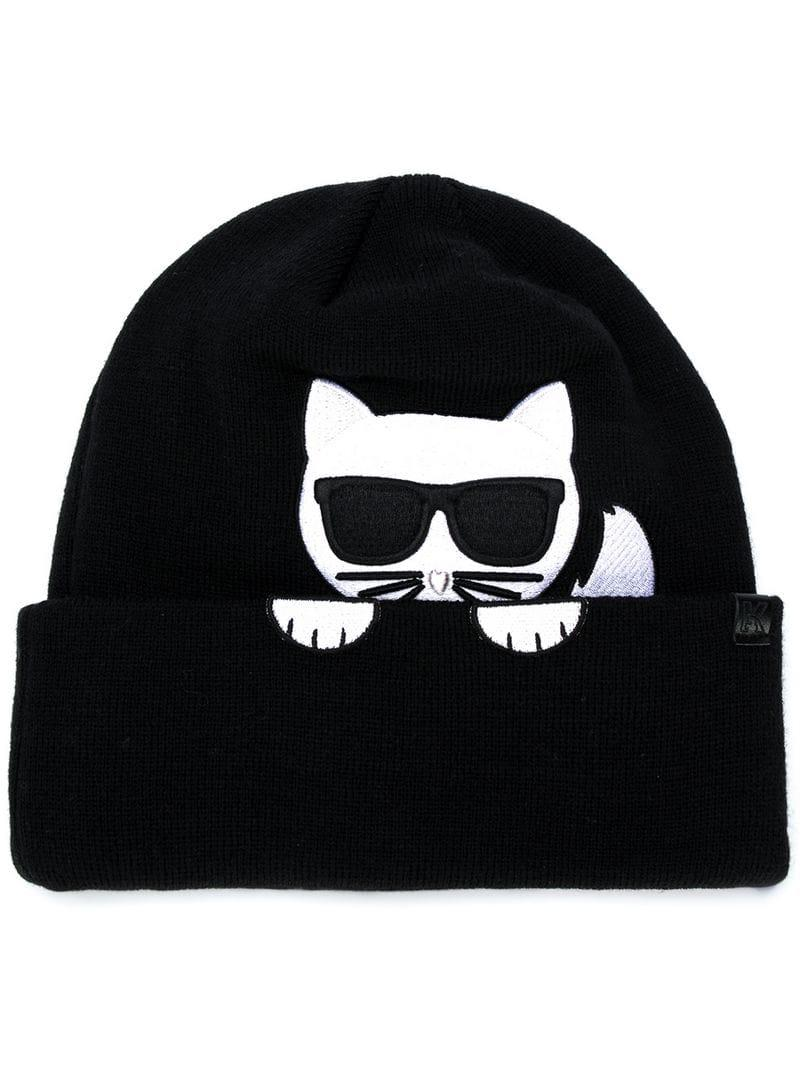 Karl Lagerfeld K Ikonik Choupette Beanie - Black  e2dd3b37eed0