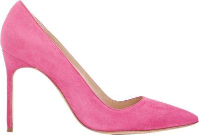 Manolo Blahnik Suede Bb Pumps In Pink