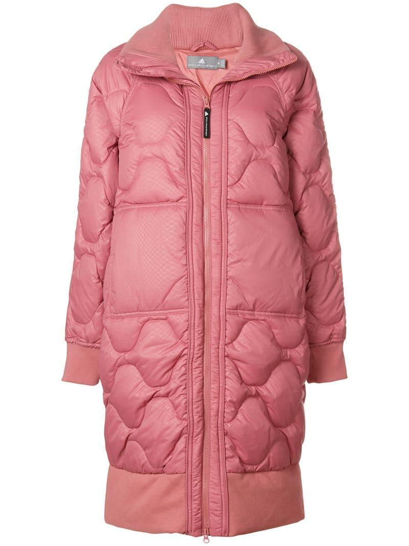 3036827b00642 Adidas By Stella Mccartney Scale-Print Quilted Jacket In Pink | ModeSens