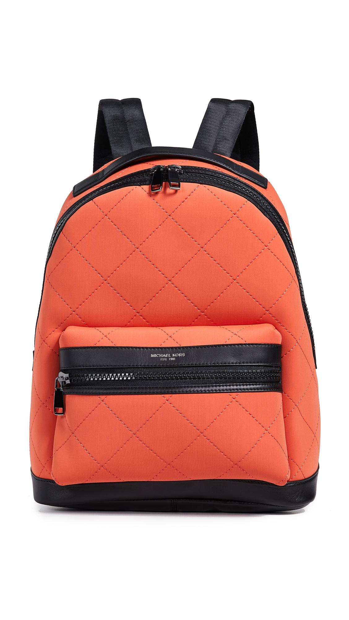 6a0f1054864a Michael Kors Odin Neoprene Backpack In Bright Orange