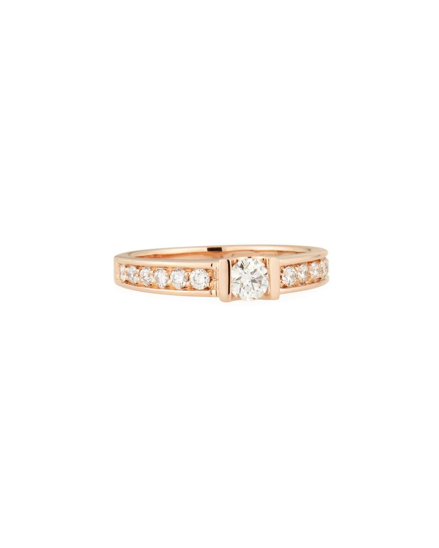 Roberto Coin 18K Rose Gold Diamond Shank Ring