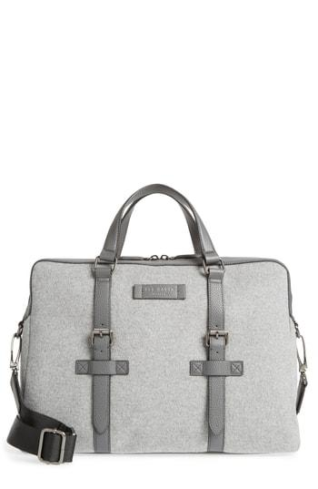 951271303b85d2 Ted Baker Cabble Wool Document Bag In Grey