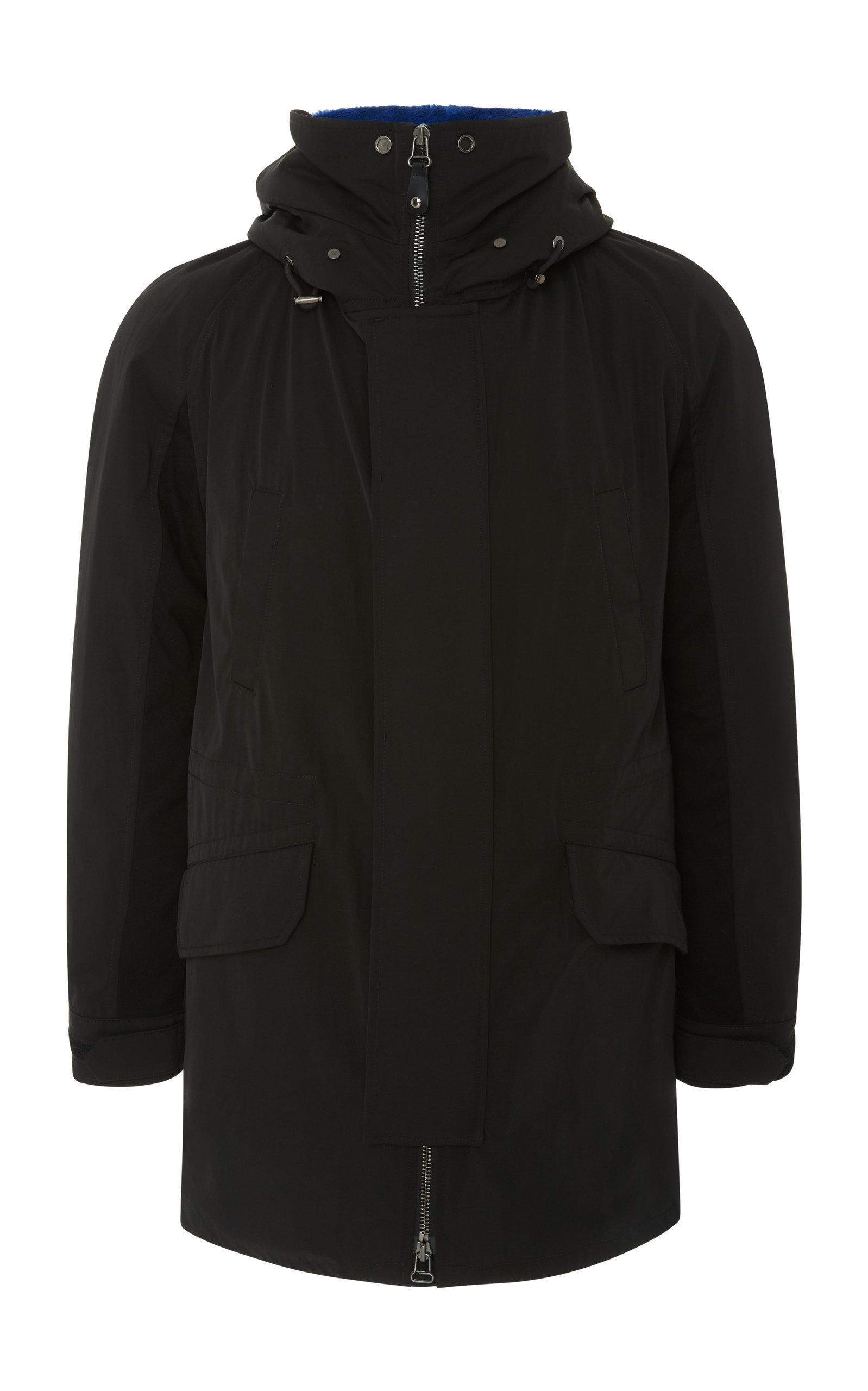9295b1254f74 Yves Salomon Fur-Lined Wool Gabardine Parka In Black
