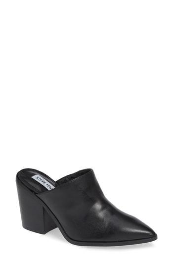 7e4f128dbf8 Steve Madden Savina Mule In Black Leather