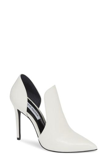a558db218897 Steve Madden Dolly Pump In White Leather