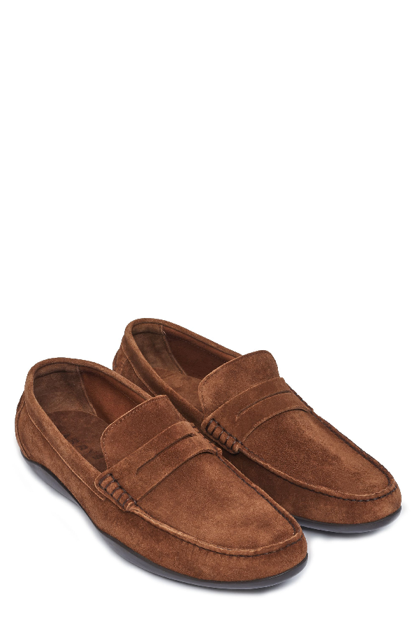 62eff8edbbf Harrys Of London Basel Penny Loafer In Tobacco Suede