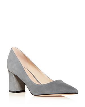 ee90b5d9ba Marc Fisher Ltd. Women's Zala Suede Block-Heel Pumps In Dark Gray ...