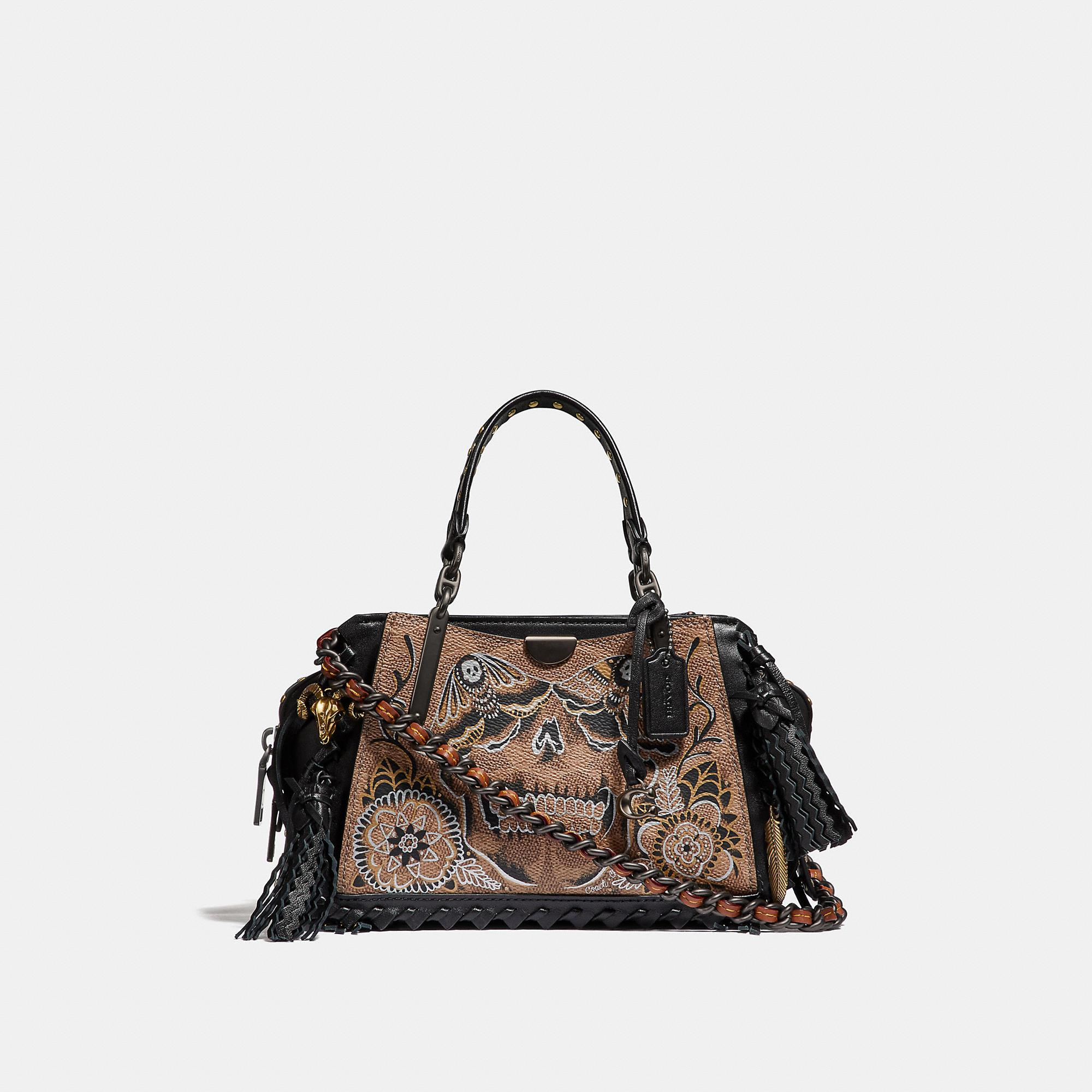 7fc852124d Coach Dreamer 21 In Signature Canvas With Tattoo - Women's in Tan  Black/Black Copper