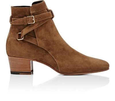 Saint Laurent Blake Ankle Boots - 2712 Sigaro In Camel-Brown