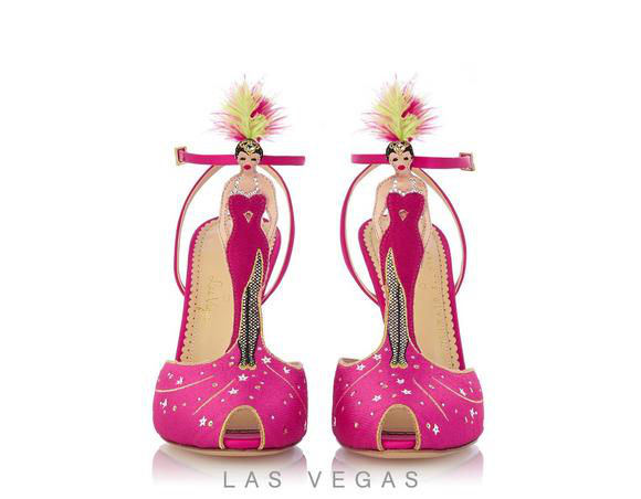 Charlotte Olympia Show Girl In Crepe%20Satin_614_Hot%20Pink