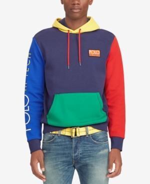 254af92e3 Polo Ralph Lauren Hi-Tech Logo-AppliquÉD Colour-Block Jersey Hoodie In  Cruise