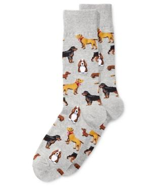 Hot Sox Men's Socks, Cats And Dogs Slacks In Sweatshirt