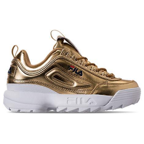 f45b5bc778a94 Fila Women S Disruptor Ii Premium Metallic Casual Shoes