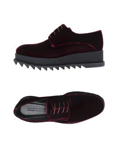 Jil Sander Laced Shoes In Deep Purple