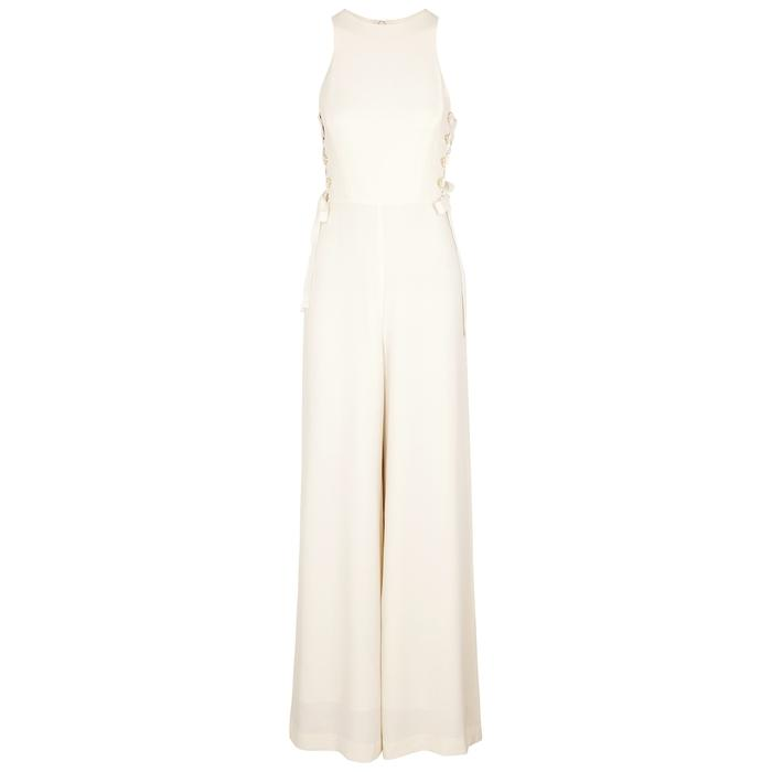 9be6d807aaf Zimmermann Cream Wide-Leg Jumpsuit In White