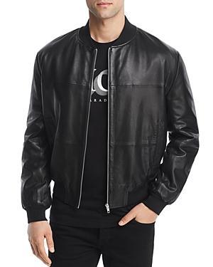 Mcq By Alexander Mcqueen Mcq Alexander Mcqueen Leather Bomber Jacket In Darkest Black