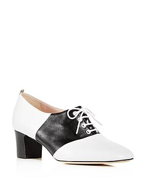 Sjp By Sarah Jessica Parker Women's Olivia Leather Block-Heel Oxfords In White