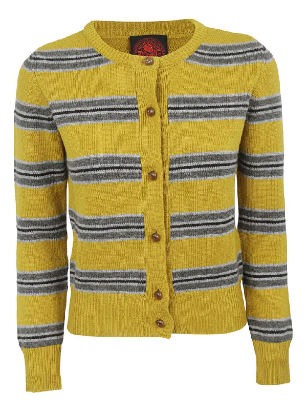 Happy Sheep Striped Cardigan In Multicolor