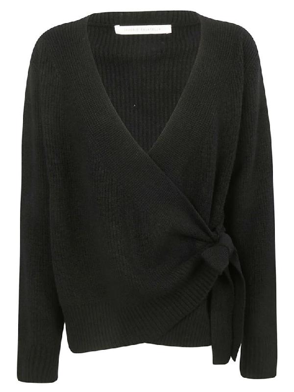 Saverio Palatella Tie Detail Sweater In Black