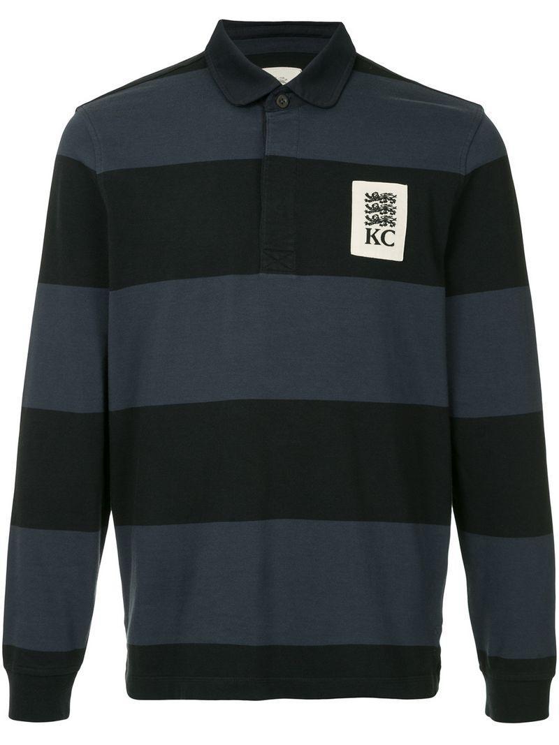 201e10d2f4f KENT & CURWEN. Kent & Curwen Striped Rugby Polo Shirt - Green ...