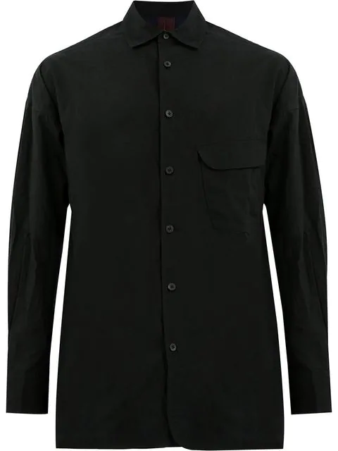 Ziggy Chen Stripe Detail Shirt - Black