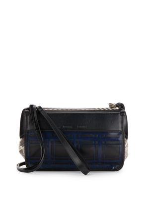 Z Plaid Python & Leather Crossbody Bag in Black-Multi