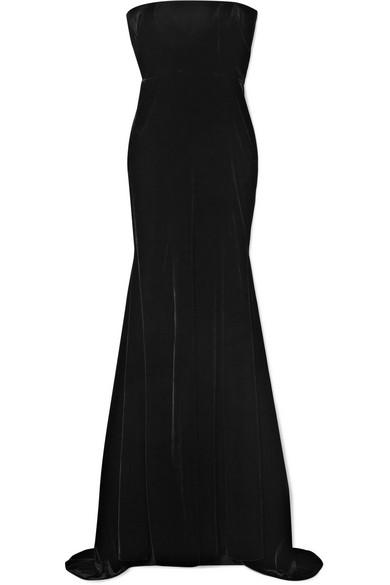 0bc5545051ea7 Alex Perry Sutton Strapless Velvet Gown In Black | ModeSens