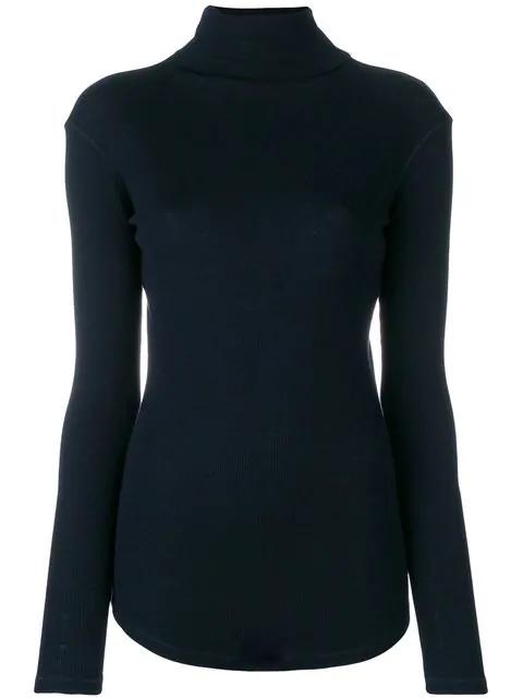 Joseph Ribbed Turtleneck Sweater - Blue