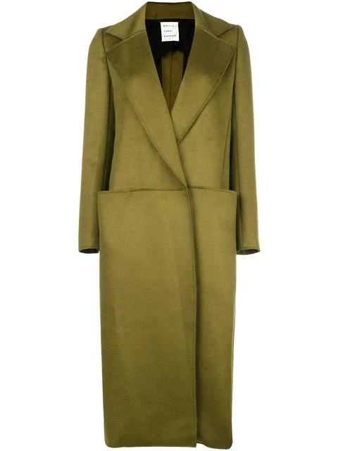 Maison Rabih Kayrouz Single Breasted Coat In Green