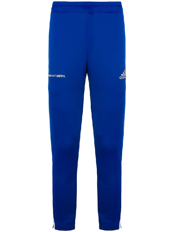 save off 9dd39 91b4f Gosha Rubchinskiy Blue Adidas Originals Edition Track Pants