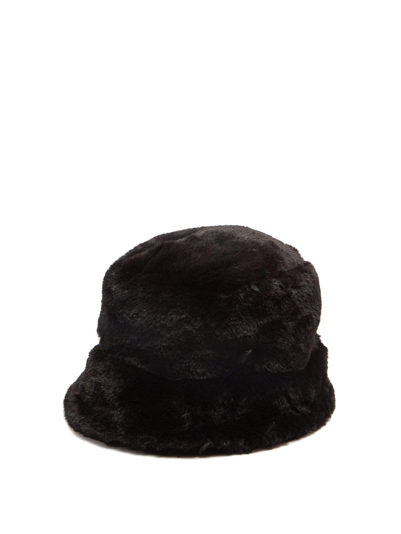 d25e785ac9b FilÙ Hats - Madison Eco Faux Fur Bucket Hat - Womens - Black