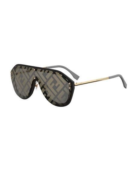 ea5431e380f Fendi Ff Shield Sunglasses In Green Red