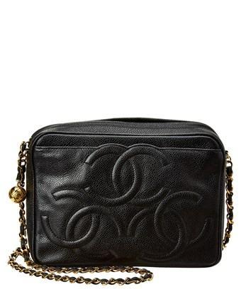 6bae2421f659 CHANEL. Chanel Limited Edition Black Caviar Leather Medium 3Cc Camera Bag  ...