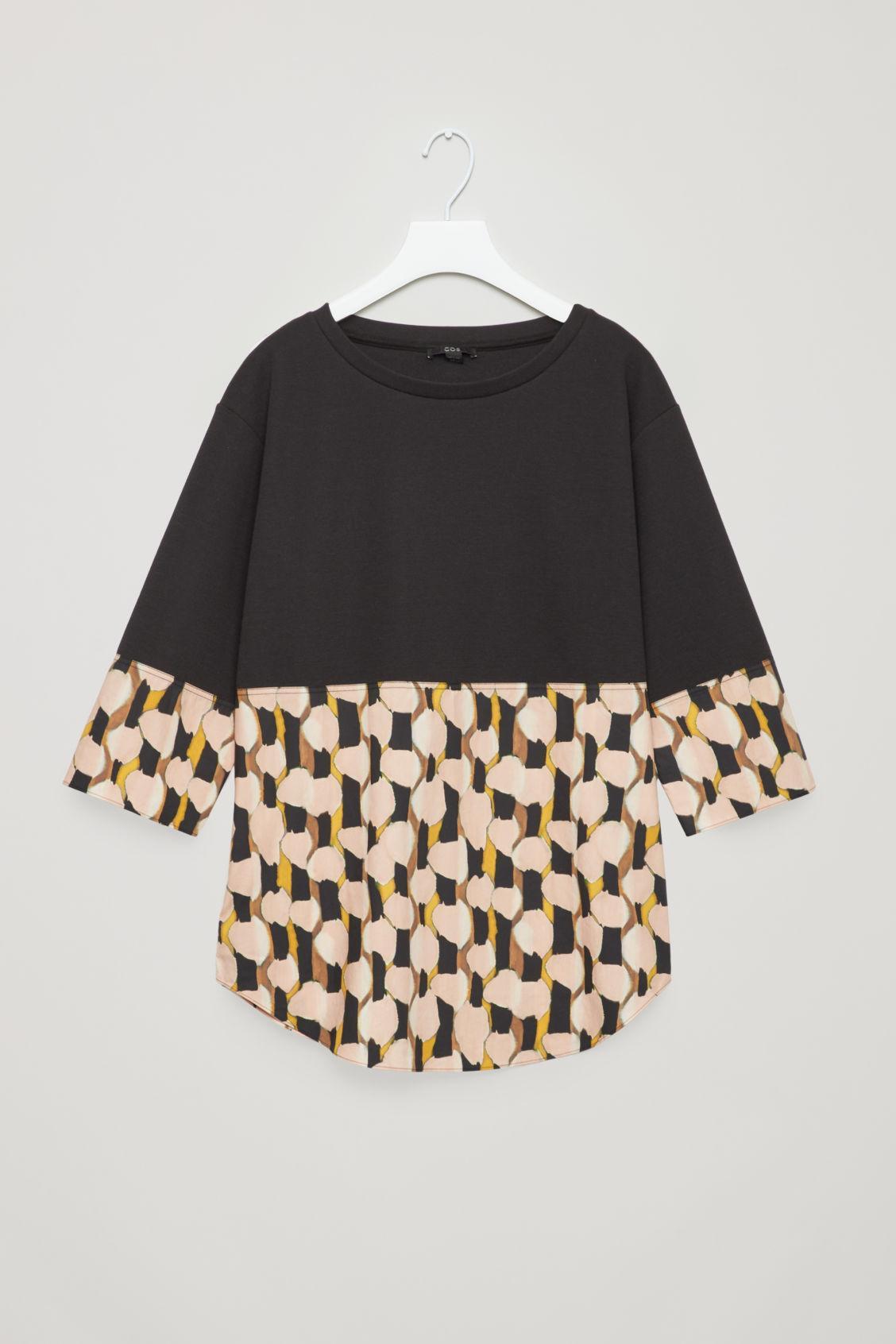 90fd6ee66ee1 Cos Sweatshirt With Shirt Hem In Black